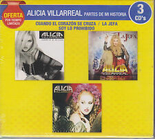 3 CD's Alicia Villarreal CD NEW Partes De Mi Historia BRAND NEW !