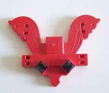 PLAYMOBIL (M426) VIKINGS - Ornement Rouge à Têtes de Chevaux 3151 4433 SystemX