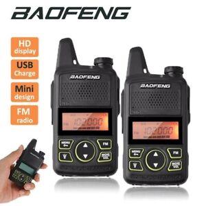 UK Stock 2 x Baofeng MINI-T1 PMR446 VHF 120-174Mhz -UHF 200-520 Mhz- 2 Way Radio