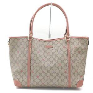 Gucci Tote Bag Supreme Beiges PVC 840215