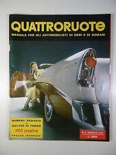 L320 RIVISTA MENSILE QUATTRORUOTE QUATTRO RUOTE N° 4 MAGGIO 1956 SALONE TORINO