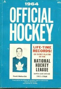 1964 Official NHL Hockey Record Book Active Retired Gordie Howe Frank Mahovlich