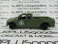 Johnny Lightning 1:64 LOOSE Army Matte Green 2004 FORD F-250 F250 Pickup Truck
