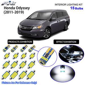15 Bulb LED Interior Light Kit Cool White Dome Light For 2011-2019 Honda Odyssey