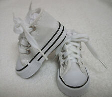 """Fits 16"""" Sasha or Gregor Doll - White High Top Sneakers - Shoes - D1295"""