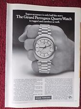 1972 Print Ad GIRARD PERREGAUX Watch Watches ~ Super-Accuracy, Rugged & Carefree