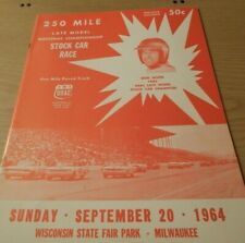 1964 USAC 250 Mile Late Model Stock Car Race Wisconsin State Fair Park
