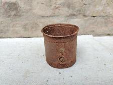 """1920s Vintage Primitive Main Fer Grains de Mesure Pot Décoratif Échelle 3.5 """""""