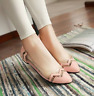 Womens Lady Clear transparency Pointy Toe Flat heel Boat Shoes US4.5-11.5