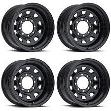 17x8 Vision 84 Vision 6x139.7 6x5.5 -12 Black Wheel New set(4)