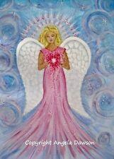 Archangel Chamuel guardian angel spiritual Reiki A4 photo print of my painting