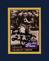 Charley Trippi signed Chicago Cardinals Pro Football Hall of Fame card