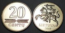 Lithuania 2008 20 Centu Coin BU Very Nice KM# 107
