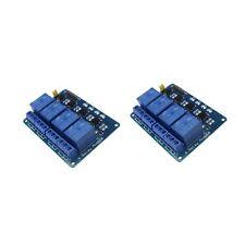 2x 4 Channel 5V Relay Shield Module Board for Arduino Raspberry Pi ARM AVR