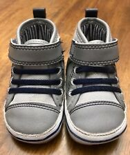 SUPRIZE by Stride Rite Boys High Top Sneaker Shoes, 0-6 month Light Grey/Owen