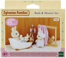 Sylvanian Families-Baño y Ducha Conjunto 5022 Multicolor