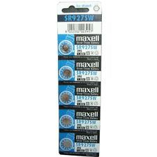 MAXELL SR927SW 395 Silver Oxide Button Cell Battery - 5 Piece Pad - BNew - Auth