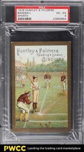 1878 Huntley & Palmers Sports Baseball PSA 4 VGEX
