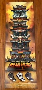 """2004 LeBron James Nike Air Zoom II Chamber of Fear PROMO Rare Poster 11.5"""" x 33"""""""