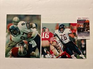 Steve McMichael (JSA) & Emery Moorehead Signed 8 x 10 Photo Chicago Bears