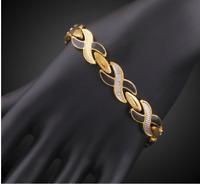 18 karat Gold Silber Armkette Armreif Panzerkette Armband Herren Damen vergoldet