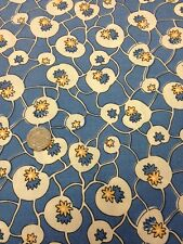 Tesoros Antiguo 100% tela de algodón azul floral de acolchar Craft