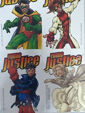 1998 YOUNG JUSTICE Sticker Sheet Comic Advertisement Promo - Robin, Superboy J