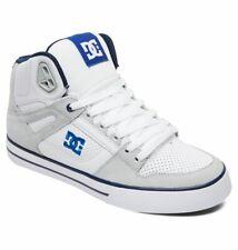 Tg 42 - Scarpe Uomo Skate DC Pure High WC White Blue Bianco Sneakers Schuhe 2019