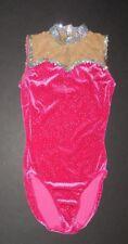 NWT Wolff Fording Plush Velvet Leotard Hologram Glitter Bodice Small Child