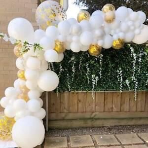 Arch Kit Set Balloons Birthday Wedding Baby Shower Party Decor White & Gold