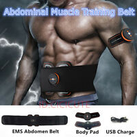 EMS Muscle Stimulater Training Gear ABS Abdominal Fitness Toner Workout Belt #B