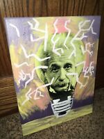 Albert Einstein Multimedia Painting Original Art Illustration Home Decor Photo