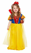 GIRLS TODDLERS SNOW WHITE PRINCESS FANCY DRESS COSTUME FAIRYTALE  2 - 4 YEARS