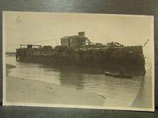 cpa photo guerre 1914 bateau navire en partie coulé militaire