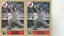 FREE SHIPPING-MINT-1987 Topps Cleveland Indians  #405 Brook Jacoby-2 CARDS
