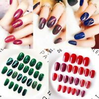 Acrylic Full Cover Manicure Tips Fingernail Nail Art Patch False Nails Cat eye