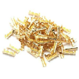 100pcs Car Brass Copper 0.5-1.5mm² Crimp Electrical Connector Wire Terminal Tool
