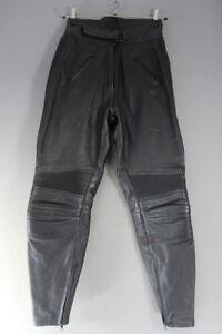 BELSTAFF BLACK LEATHER BIKER TROUSERS SIZE 18: WAIST 28 INCH/INSIDE LEG 30 INCH