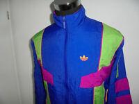 vintage taiwan 80`s ADIDAS Nylon Jacke Trainingsjacke neon oldschool M