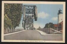 POSTCARD HAMILTON BEACH CANADA Bascule Draw Bridge & Lighthouse 1930's