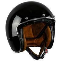 3/4 Open Face Scooter Motorcycle DOT Helmet Vintage Classic M L XL XXL Black US