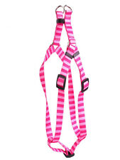 """New listing Dog Harness Pink W/ Pink Stripes-Small -3/4"""" 9"""" x 15""""-Yellow Dog Design-Steal $"""