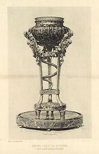 "Jules Jacquemart original etching ""Tripod"""