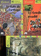 LOT 3 Collection ZAZIMUT// 6 Histoires de CHEVALIERS+MONDE ANTIQUE+DINOSAURES