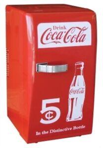 Retro Red Coca Cola Coke Mini Fridge Compact Personal Refrigerator Office Dorm