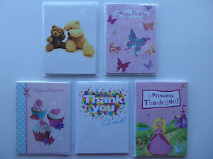 Pack of 8 Cards + Envelopes (Select from Birthday, Birthday/Blank or Thank You)