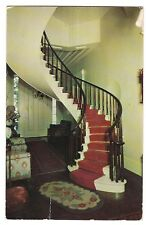 Spiral Staircase Interior SHREWSBURY HOUSE Madison  INDIANA Postcard IN  1956