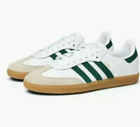 NEW MENS ADIDAS SAMBA OG SNEAKERS EE5451 WHITE/GREEN-SHOES-MULTIPLE SIZES