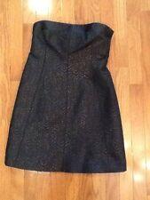 D&G Dolce & Gabbana black strapless brocade bustier dress size 40