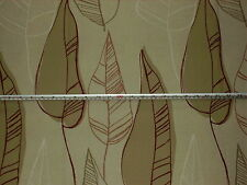 'Macapa' Red / Beige, Swaffer Selvas Leaf, 100% Cotton Furnishing Fabric 2.1 mt